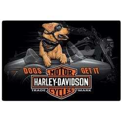 PLAQUE HD SIDE DOG HARLEY