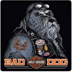 PLAQUE BAD DOG HARLEY